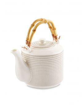 Crofton Bamboo Handle Tea Pot